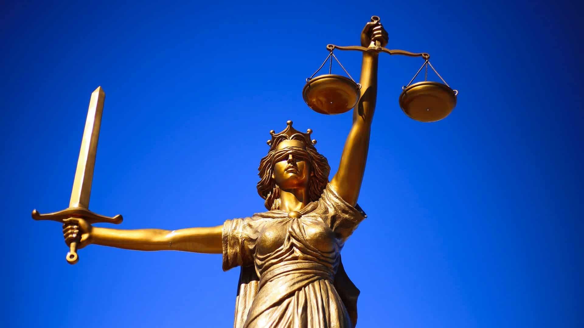 Justitia mit Wage und Halterhaftung