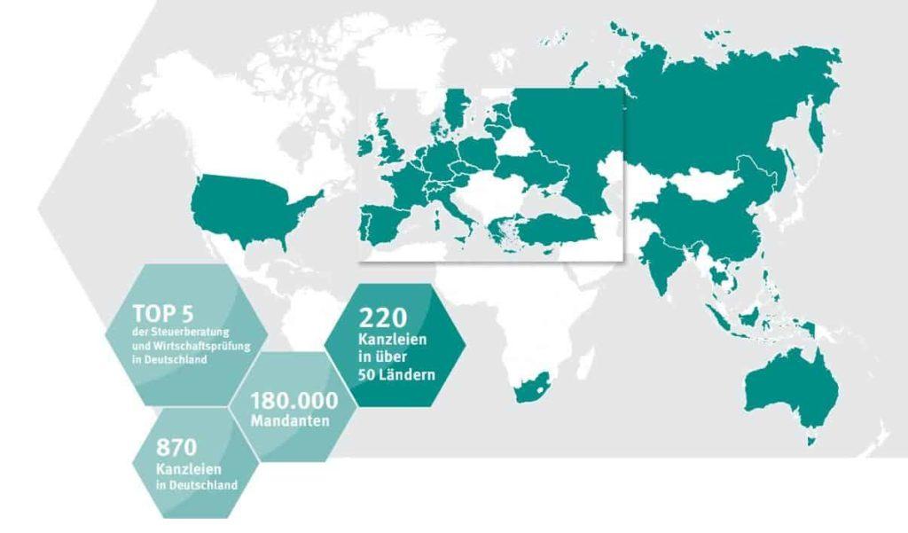 Weltkarte ETL Vertretungen