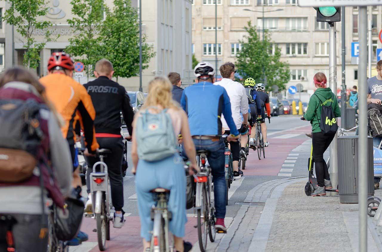 Fahrräder auf dem Fahrradweg