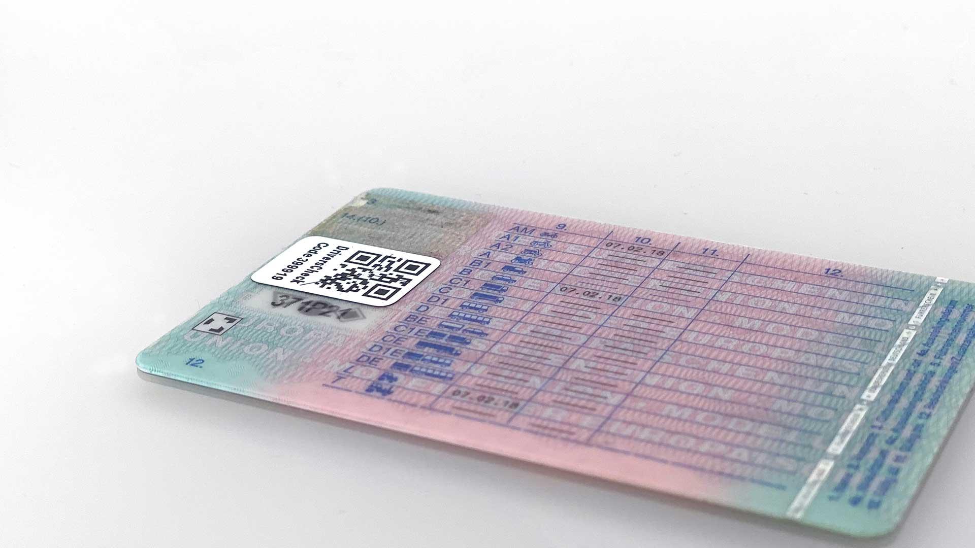 Führerschein mit DriversCheck Siegel