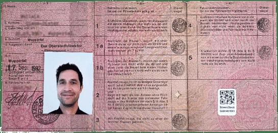 Alter Papierführerschein